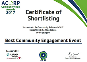 Community Rail Awards Shortlist 2017